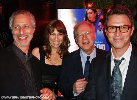 """PoliWood"" producers Robert Baruc, Robin Bronk, director Barry Levinson and producer Tim Daly at the ""PoliWood"" after-party."